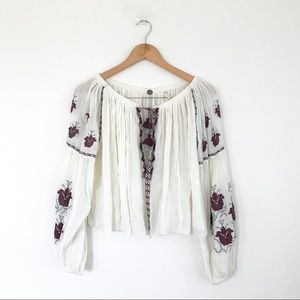 FP One Free People embroidered top